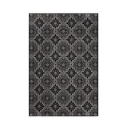 "Feizy® Settat Wool and Art Silk Pile Contemporary Rug, 2'2"" x 4', Black and Ecru"