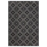Feizy® Settat Wool and Art Silk Pile Contemporary Rug, 5' x 8', Black and Ecru