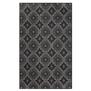 "Feizy® Settat Wool and Art Silk Pile Traditional Rug, 10' x 13'2"", Black/Ecru"