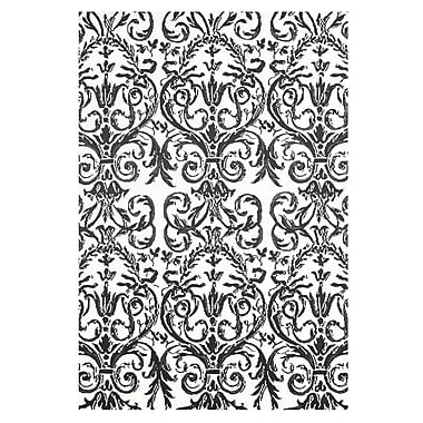 Feizy® Pia Polyester Pile Contemporary Rug, 5' x 8', Slate/White