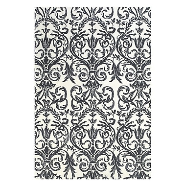 Feizy® Pia Polyester Pile Contemporary Rug, 8' x 11', Slate/White