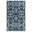 Feizy® Pia Polyester Pile Traditional Rug, 5' x 8', Midnight Blue