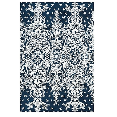 Feizy® Pia Polyester Pile Contemporary Rug, 5' x 8', Midnight Blue