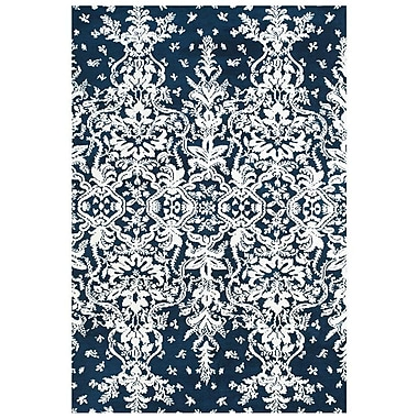 Feizy® Pia Polyester Pile Contemporary Rug, 8' x 11', Midnight Blue