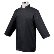 Chef Works® Black Basic 3/4 Sleeve Chef Coats