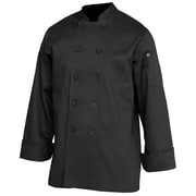 Chef Works® Bastille Black Long Sleeve Basic Chef Coats
