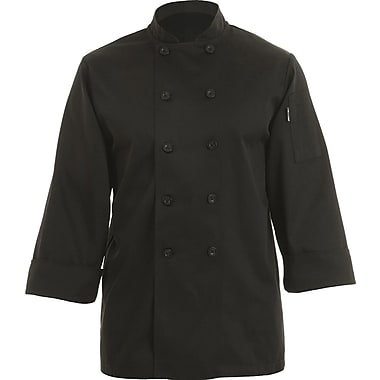 Chef Works® Bastille Long Sleeve Basic Chef Coat, Black, 5XL