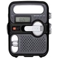 Eton FR360 Self-Powered AM/FM/NOAA Radio With Solar Power Flashlight and Cell Phone Charger, Black
