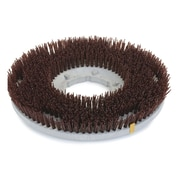 "Carlisle 361600G70-5N, 16"" D Brown Grit Concrete Floor Care Brush"