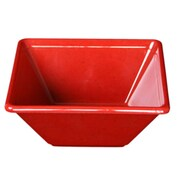 Thunder Group 8 oz Passion Red Square Bowl