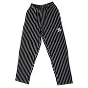 BVT/Chef Revival P040WS-3X, E-Z Fit White / Black Pin-Stripe Pants, 3X