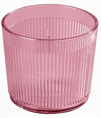 Carlisle 402955, 9 oz Crystalon Stack-All Old Fashion SAN Tumbler, Rose 450661