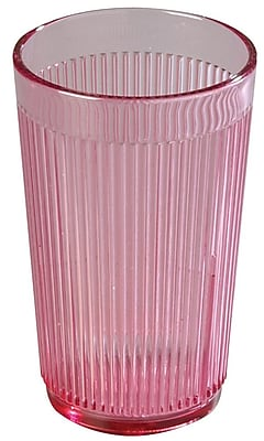 Carlisle 8 oz Crystalon Stack-All SAN Tumbler, Rose 450694