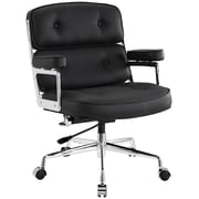 Modway Remix Deluxe Padded Vinyl Remix High Back Executive Office Chair, Black