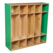 """Wood Designs™ 48""""W Five Section Locker, Green Apple"""