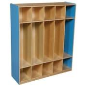 "Wood Designs™ 48""W Five Section Locker, Blueberry"