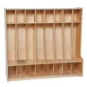 "Wood Designs™ 54""W Eight Section Seat Locker, Blueberry"