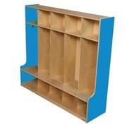 "Wood Designs™ 54""W Six Section Seat Locker, Blueberry"
