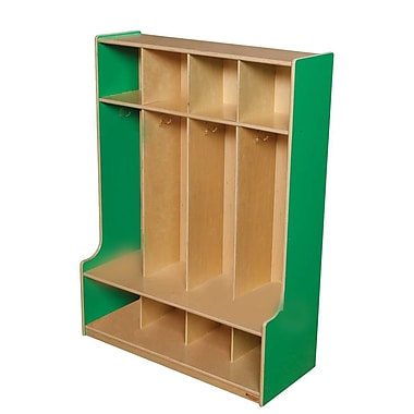 Wood Designs™ Four-Section Seat Locker, Green Apple