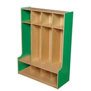 Wood Designs™ Four-Section Seat Locker, Green Apple