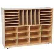 Wood Designs™ Multi-Sectioned Storage Center Without Trays, Birch