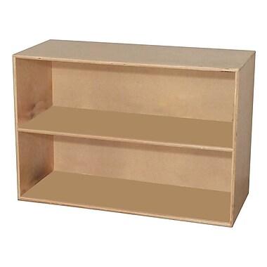 Wood Designs™ Storage Two Shelf Modular Storage, Birch