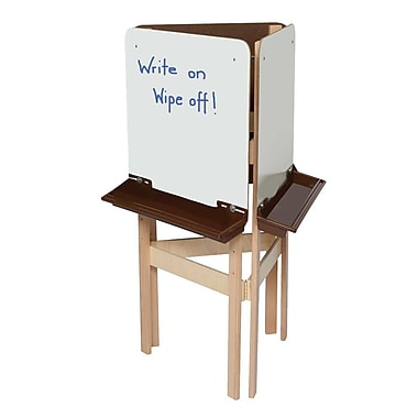 Wood Designs™ Art 3-Way Easel With Markerboard and Brown Tray, Birch