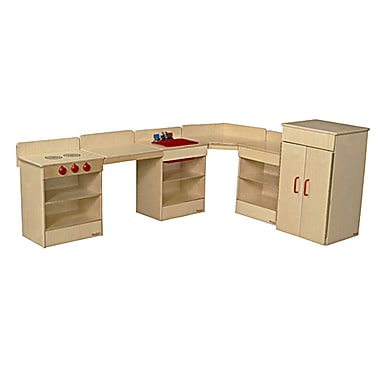 Wood Designs™ Tot Furniture 6-Piece Plywood Kitchen Appliances W/2 Counters