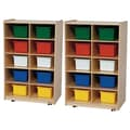 Wood Designs™ Folding Vertical Storage With 20 Assorted Trays, Birch