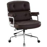 Modway Remix Deluxe Padded Vinyl Remix High Back Executive Office Chair, Brown