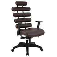 Modway Vinyl Pillow High Back Office Chair, Dark Brown