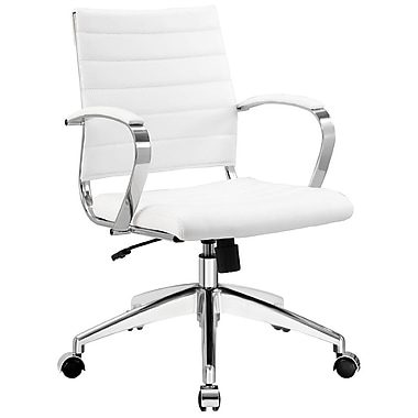 Modway Jive Ribbed Vinyl Mid Back Executive Office Chairs