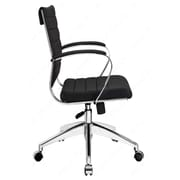 Modway Jive Vinyl Mid-Back Executive Chair, Fixed Arms, Brown