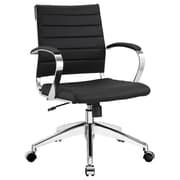 Modway Jive Ribbed Vinyl Mid Back Executive Office Chair, Black