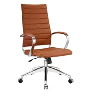 Modway Jive Ribbed Vinyl High Back Executive Office Chair, Terracotta