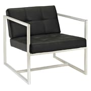 Modway Hover Padded Vinyl Lounge Chair, Black