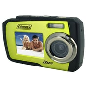 Coleman® Duo 2V7WP 14MP Dual Screen Waterproof Digital Camera, Green