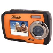 Coleman® Duo 2V7WP 14MP Dual Screen Waterproof Digital Camera, Orange