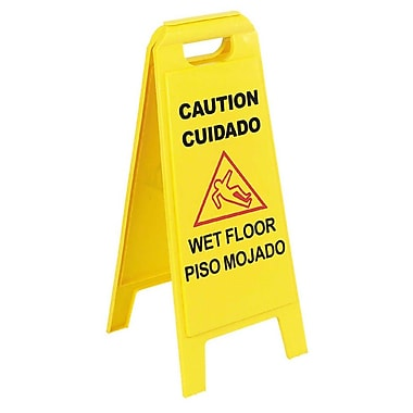 Carlisle 36900-00, 25in. Wet Floor Sign (English/Spanish)