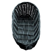 Tablecraft 9'' Oblong Black Handmade Baskets