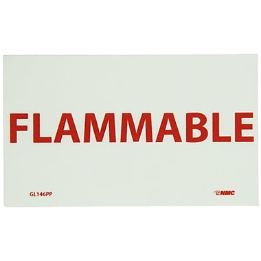Glow Labels- Fire, Flammable, 3X5, Adhesive Vinylglow
