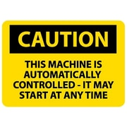 Caution, This Machine Is Automatically Controlled It Mat Start At Any Time, 10X14, Adhesive Vinyl