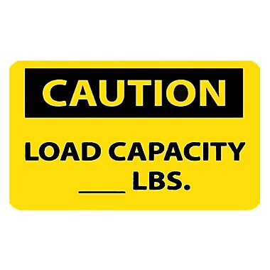 Caution, Load Capacity__Lbs., 10