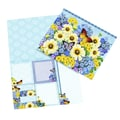 LANG® Botanical Gardens Blue Sticky Note Set