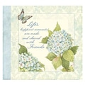 LANG® Recipe Card Album, Blue Hydrangea