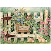 """LANG® Welcome Large Guest Book, 6.75""""H x 9.25""""W, Colored Artwork, Each, (1053027)"""