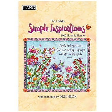 LANG® Simple Inspirations 2015 Monthly Planner