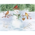 LANG® Boxed Christmas Cards With Envelopes, Happy Snowman