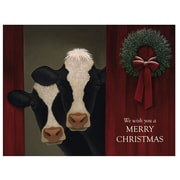 LANG® Boxed Christmas Cards With Envelopes, Holiday Cows