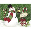LANG® Boxed Christmas Cards With Envelopes, Candy Cane Snowman